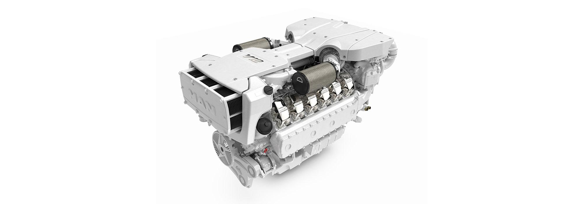 MAN Engines V12-1900 thanks to the performance enhancement that increased engine power to 1,397 kW