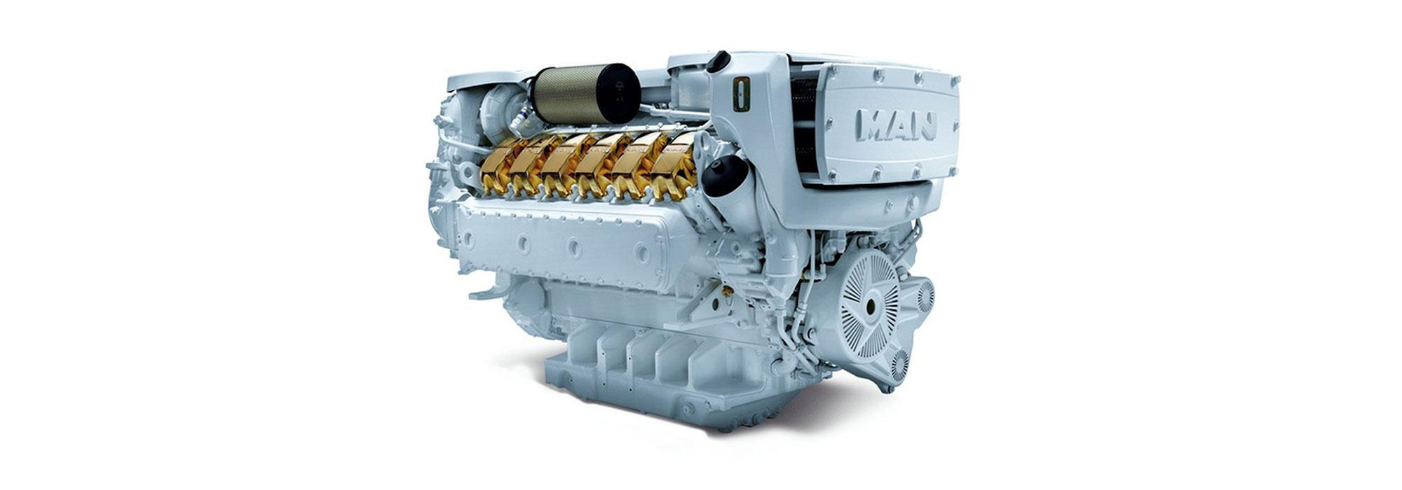 MAN engines yacht are well known for their compact dimensions and thus give architects and boat-builders a good deal of room for manoeuvre